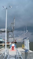 A new real-time wind and current system installed as part of the Pascagoula- Gulfport Physical Oceanographic Real-Time System (PORTS) Image