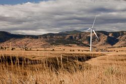 A wind turbine at the National Wind Technology Center Image