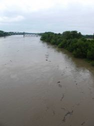 A Missouri River Bridge at Boonville Image