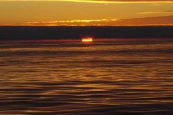 Sunset at sea Photo