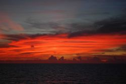 Sunset over the Gulf of Mexico Photo