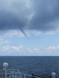 Funnel cloud over the Gulf of Mexico. Photo