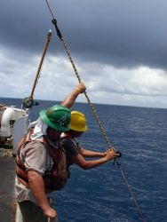 TAO buoy operations off the NOAA Ship Ka'imimoana Photo