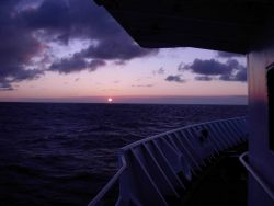Tropical sunset at sea. Photo