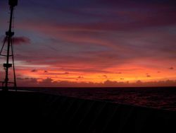 Tropical sunset at sea. Photo