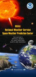 Information poster illustrating work of National Weather Service Space Weather Prediction Center. Photo
