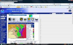 Local warnings issued by Wakefield, Virginia, National Weather Service Forecast Office, for Hurricane Sandy and associated weather phenomena. Photo