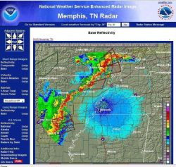 Numerous tornado and severe thunderstorm warnings associated with the storm system shown in the last three images Photo