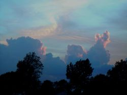 Picture taken at sunset following severe weather and tornado outbreak. Photo