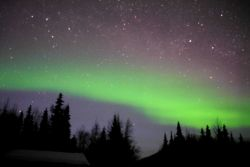 Aurora borealis - the Northern Lights. Photo