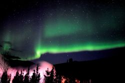 Aurora borealis - the Northern Lights. Image