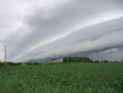 Shelf cloud over NW Illinois Photo
