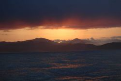 Sunset over the Straits of Juan de Fuca. Photo