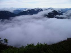 Above the clouds on Deer Mountain near Ketchikan. Image
