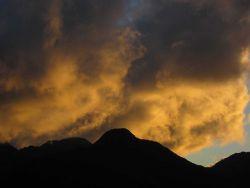 A golden sunset. Photo