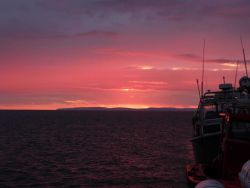 Red sky at night, sailor's delight Photo