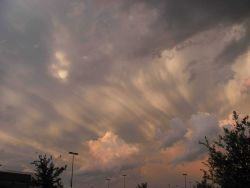 Beautiful clouds near sunset Photo
