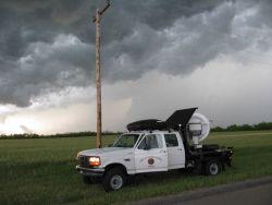 W-band radar scanning a storm Photo