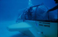 The Perry Cubmarine wet sub carries two divers at speeds of up to 5 knots. Photo