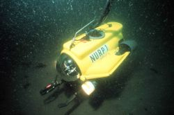 NURP1 low cost ROV can be deployed from small boats and dive to 1000 feet. Photo
