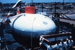 Lockheed Corp.'s DEEP QUEST was instrumented more like a space ship than a sub. Photo