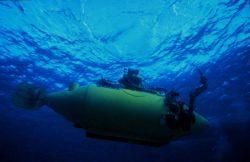 NEKTON GAMMA begins descent to sample Bahamian reefs. Photo