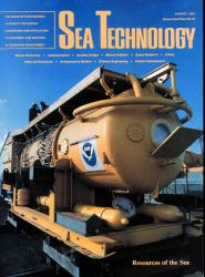 AQUARIUS featured on cover of Sea Technology prior to 1986 deployment. Image