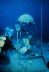 AQUARIUS ops: talk bubbles provide remote air, comms and equipment drop points. Image