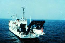 R/V Natsushima, Japan's support ship for the SHINKAI subs. Photo