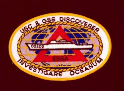 Patch symbolizes the international mission of the USC&GS Ship DISCOVERER while part of ESSA, a forerunner of NOAA. Photo