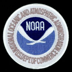 An alternate NOAA patch with gold lettering surrounding the NOAA emblem. Image