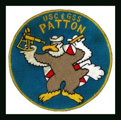 Patch commmemorating Coast and Geodetic Survey Ship PATTON featuring the Disney Eagle. Photo