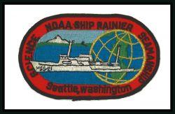 Patch commmemorating NOAA Ship RAINIER. Photo