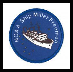Patch commmemorating NOAA Ship MILLER FREEMAN. Photo
