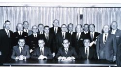 Group photo of Employee Relations Conference at ESSA Headquarters, Rockville, Maryland on May 7, 1968 Photo