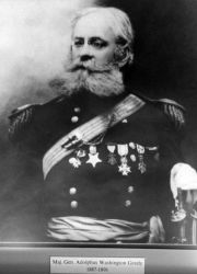 Major General Adolphus Washington Greely, head of the weather service, 1887-1891 . Photo