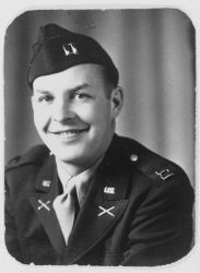 Army Captain Marvin Paulson after being transferred to United States Army in 1945 Image