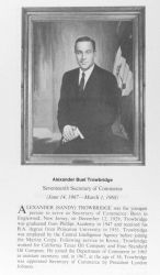 Alexander Buel Trowbridge, 1929 - , seventeenth Secretary of Commerce. Image