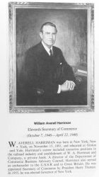 William Averell Harriman, 1891 - , eleventh Secretary of Commerce. Photo