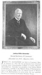 Joshua Willis Alexander, 1852 - , second Secretary of Commerce. Photo