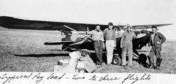Bush plane flight crew in northern Alaska. Photo