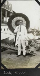 Lieutenant Charles Pierce in the Philippines (probably on the FATHOMER). Photo