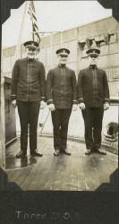 Three deck officers on the SURVEYOR Photo