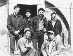 Crew of SHORAN shore camp off EXPLORER. Photo