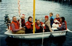 Holiday greeting card of Pacific Operations Group, the Pacific tides party Photo