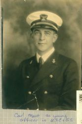Carl Mast as young USC&GS officer. Photo