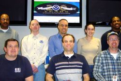 Staff of Mount Holly WSFO after completing a renovation of its operational area Photo