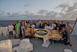 Greetings from the NOAA Ship Hi'ialakai as it is making its first voyage across the International Dateline on a cruise from Hawaii to Wake Island wher Photo