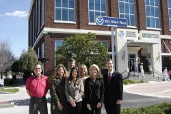 The NOAA NMFS Southeast Regional Office unveiled their new address, 263 NOAA Place, with the help of NOAA Administrator VADM Conrad Lautenbacher and R Photo