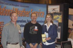 National Weather Service meteorologists teamed with scientists from the Alaska Volcano Observatory to exhibit at Alaska's premier aviation event, the  Photo